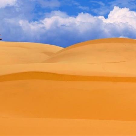 Landschap en duinen in Mui Ne